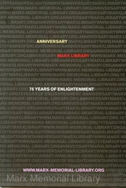 Marx Library: 75 Years of Enlightenment