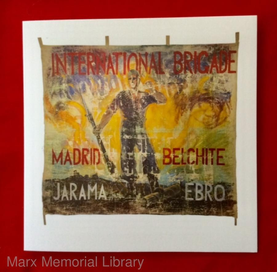 Banners for Spain card - International Brigade